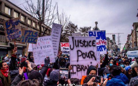 Manifestation en hommage à Ibrahima le 13 janvier à la rue de Brabant - Photo : Nathan Waroquier