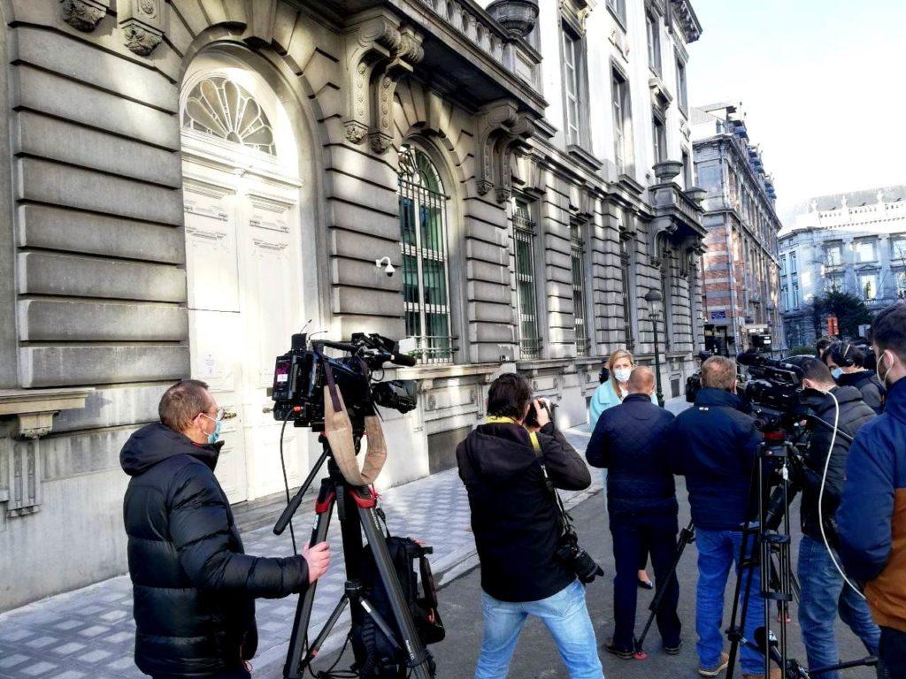 Conseil de concertation du 27 février - La ministre de l'intérieur Annelies Verlinden (CD&V).