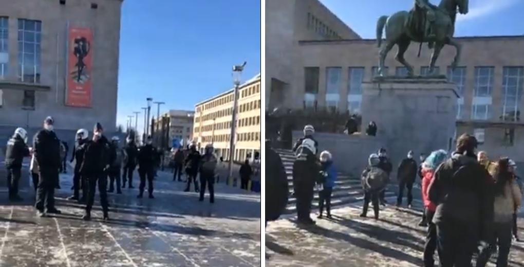 Rassemblement Mont des arts Bruxelles police arrestations mesures sanitaires covid coronavirus Belgique Philippe Close
