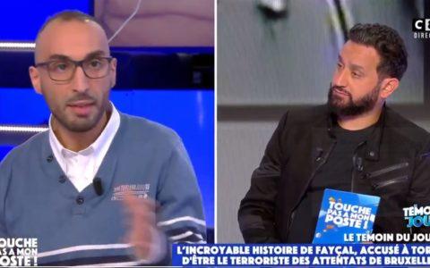 Fayçal Cheffou Cité24 chez Cyril Hanouna TPMP Touche pas à mon poste France mars 2021 attentats terrorisme Bruxelles Zaventem Mohamed Abrini