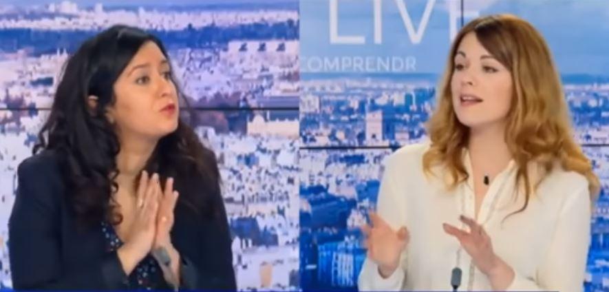 Leila Chaibi (La France Insoumise) face à Maud Bregeon (porte-parole LREM) sur BFM TV 20 mars 2021 France gouvernement Macron crise sanitaire covid coronavirus