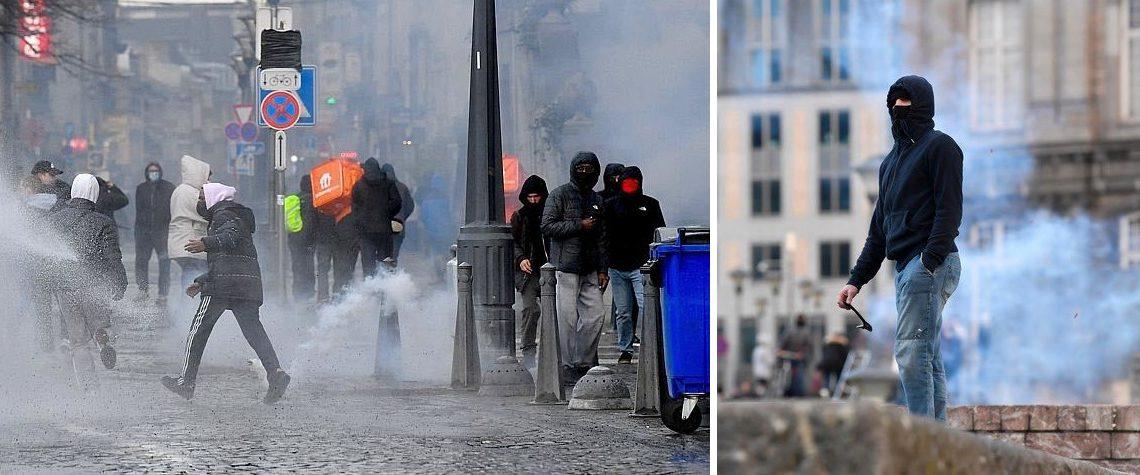Manifestation à Liège du 13 mars Belgique violences policières politique Raoul Hedebouw PTB PVDA PS
