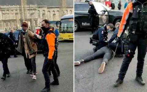 Un homme arrêté façon George Floyd, une femme violentée par la police parce qu'elle filme