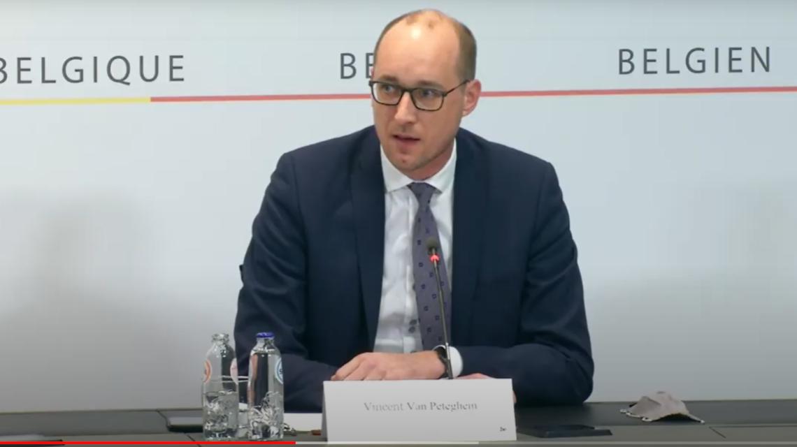 Vincent Van Peterghem ministre des finances gouvernement fédéral belgique