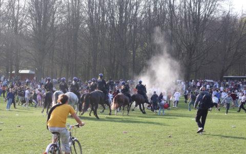 La police est intervenue ce 2 avril au bois de la Cambre de Bruxelles, chevaux en fuite et 11 arrestation violences policières
