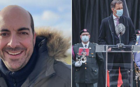 Mathieu Michel et Alexander De Croo ministre fils de Belgique hommes politiques belges Le Monde journal