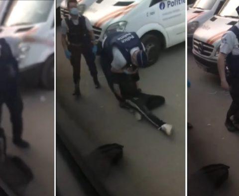 Nouvelle vidéo de la Boum un policier violente un jeune au commissariat (VIDÉO) bois de la cambre Bruxelles Philippe Close bourgmestre