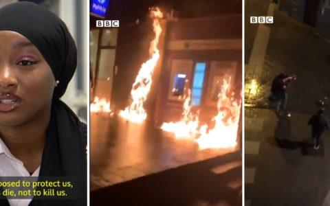Reportage BBC images Cité24 police belge presse anglaise violences policières