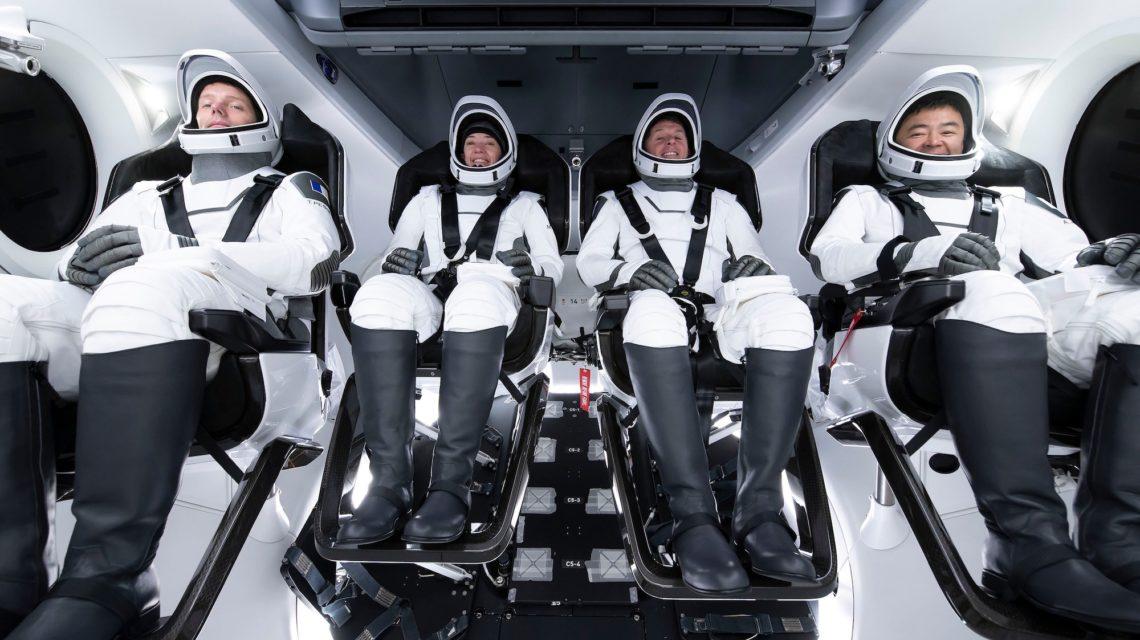L'équipage de la deuxième mission de longue durée - Photo : SpaceX