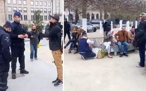 rassemblement citoyen inconnu Mont des Arts Bruxelles Belgique police Philippe Close covid mesures sanitaires
