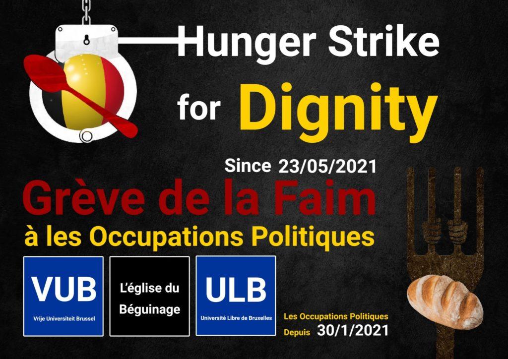 Grève de la faim des sans-papiers à Bruxelles