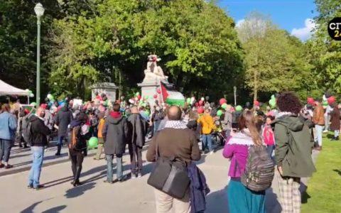 Rassemblement en soutien aux Palestiniens à Bruxelles, ce 26 mai 2021.
