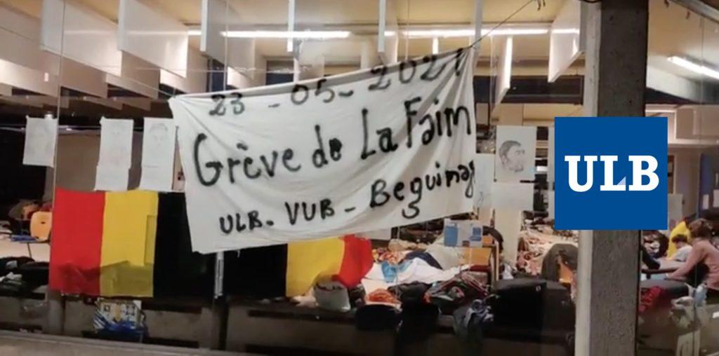 Grève de la faim à l'ULB, VUB et l'église du Béguinage.