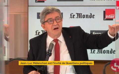 """Jean-Luc Mélenchon, député La France insoumise, était l'invité de """"Questions Politiques"""" ce dimanche."""