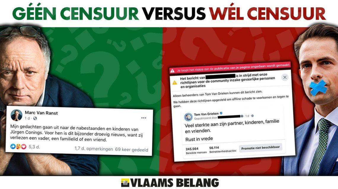 Via twitter, le président du Vlaams Belang crie à sa censure sur Facebook