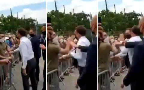 Emmanuel Macron giflé en plein déplacement dans la Drôme.