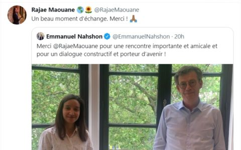 Rajae Maouane (Ecolo) et Emmanuel Nahshon (Israël)