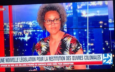 Véronique Clette-Gakuba, sociologue et spécialiste de la question de la restitution des oeuvres d'art africaines pillées sous la colonisation.