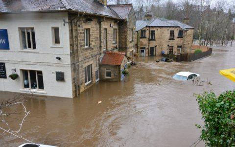 Le village de Trooz totalement inondé.