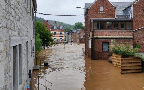 Le village de Bomal inondé lors des pluies diluviennes du 14 et 15 juillet dernier.