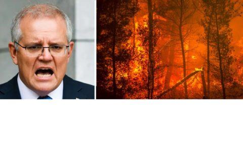 Le Premier ministre australien, Scott Morisson, nie le dérèglement climatique