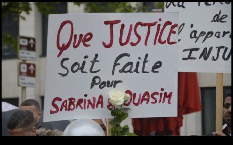 """Première victoire judicaire pour les familles de Sabrina et Ouassim avec la demande de la Chambre du conseil d'inculper trois des policiers pour """"homicides involontaires""""."""
