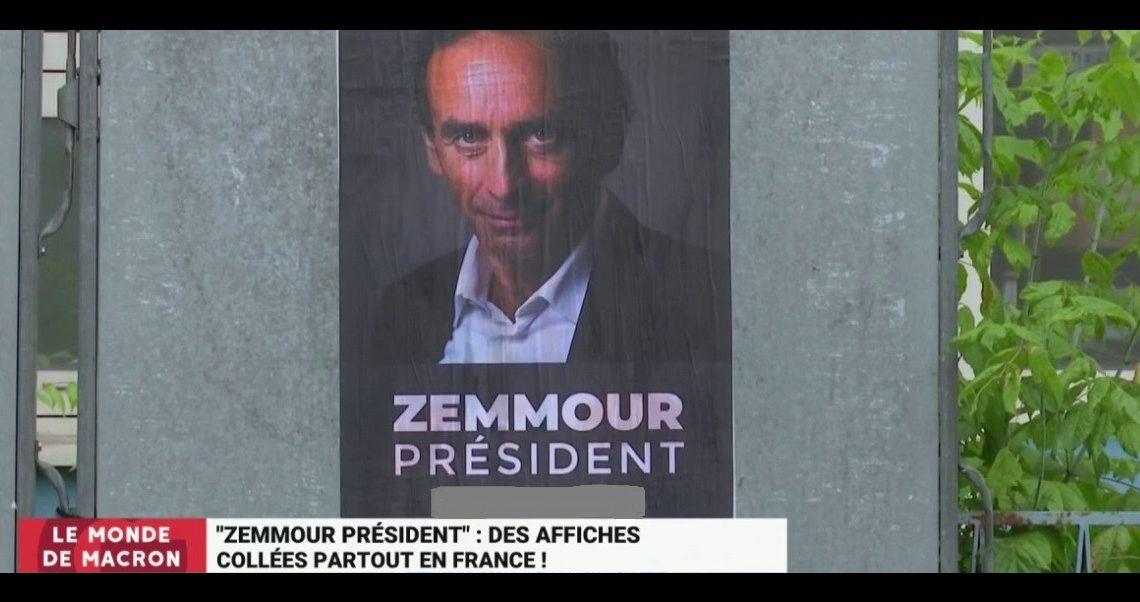 Zemmour, candidat à la présidentielle 2022