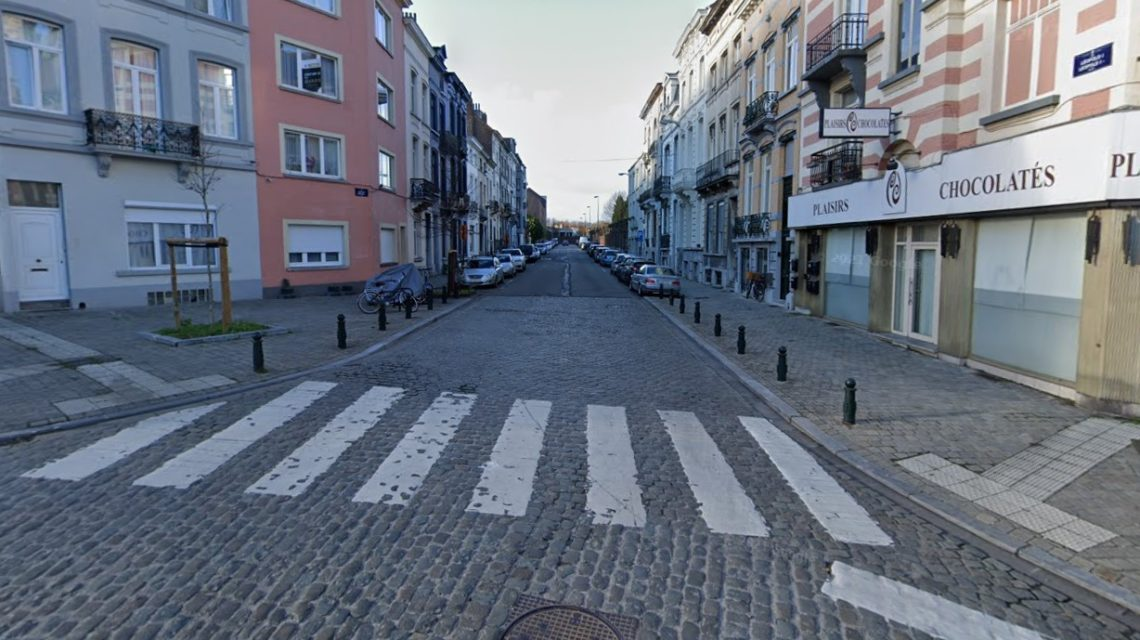 Lieu de l'accident mortel commis la soirée du mardi 18 mai 2021 rue Léopold I à Laeken.