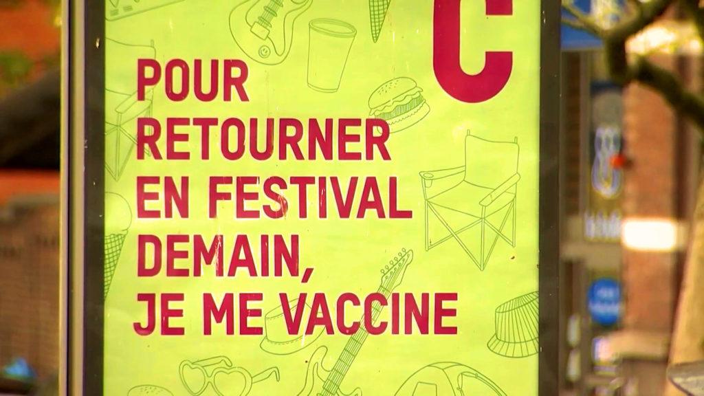 Affiche publicitaire covid en Belgique - Photo : DR.