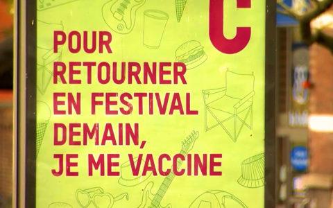 Affiche publicitaire belge Covid.