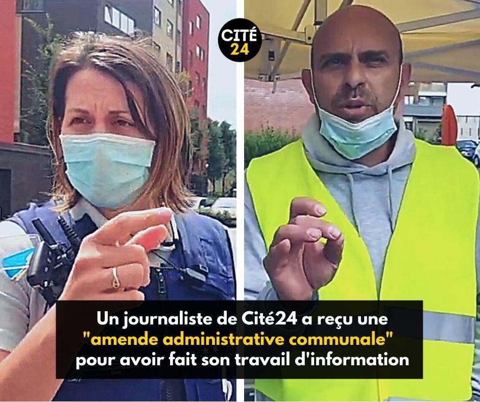 À la suite d'un reportage sur le vaccibus à Jette le 9 août 2021, deux procès-verbaux ont été rédigés à charge de Fayçal Cheffou, journaliste pour #Cité24 !