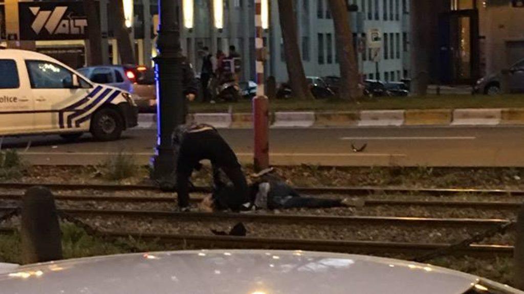 Photo du «parchocage» policier meurtrier dont ont été victimes Sabrina et Ouassim.