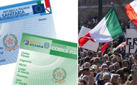 No green pass Italie manifestation